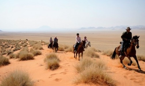 The Wild Horses Ride in Namibia