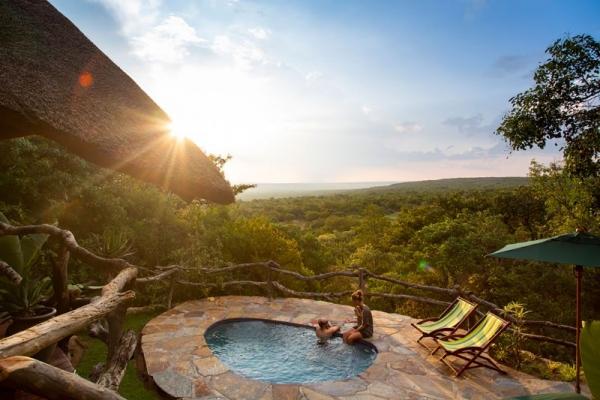 swimming pool at safari lodge