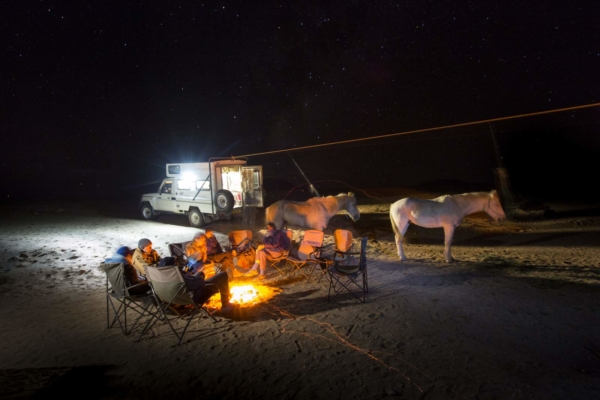 Remote camping under the stars