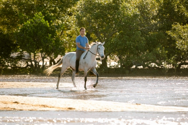 Riding bareback in tropical areas