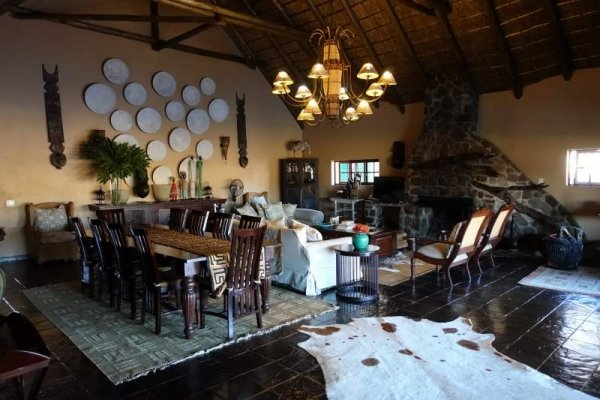 Lodge dinning area South Africa