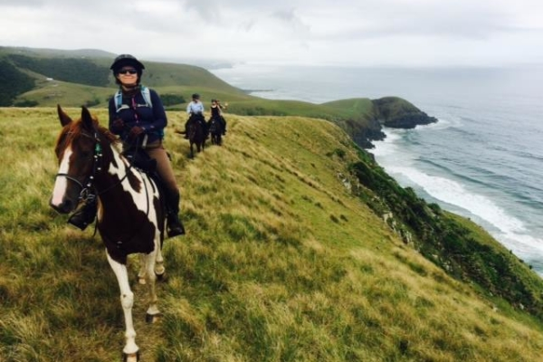 Horse riding on the wild coast