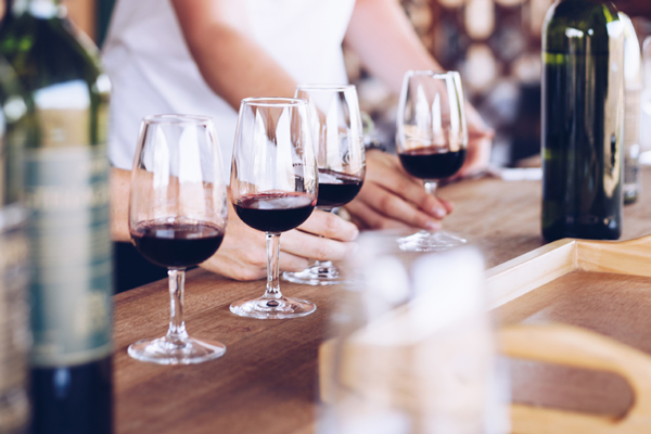 Enjoy wine tasting after a day in the saddle