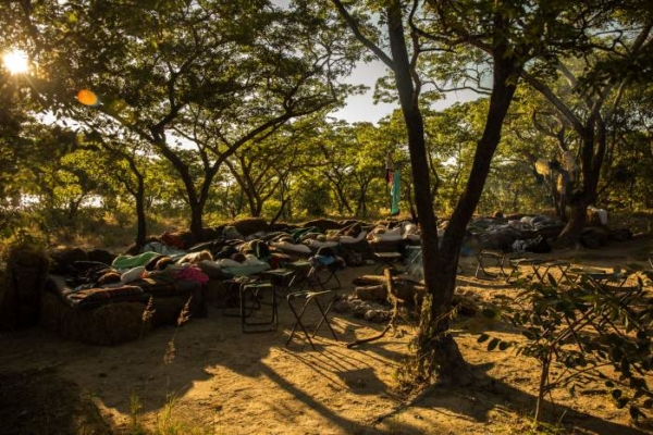 sleep out in Zimbabwe