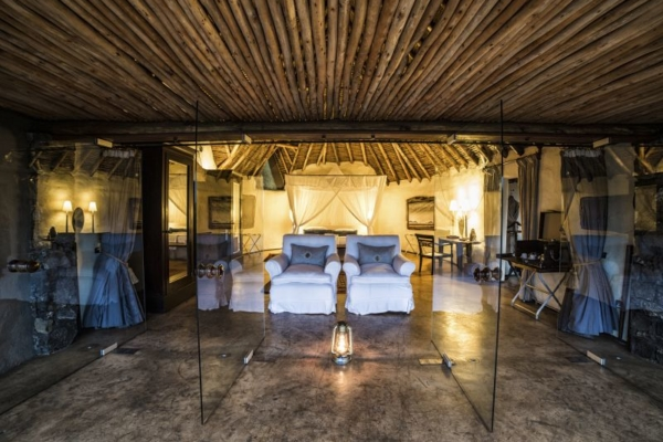 Luxury accommodation at Ol Donyo Lodge