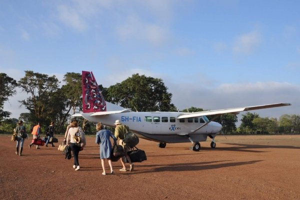 Small plane in Africa