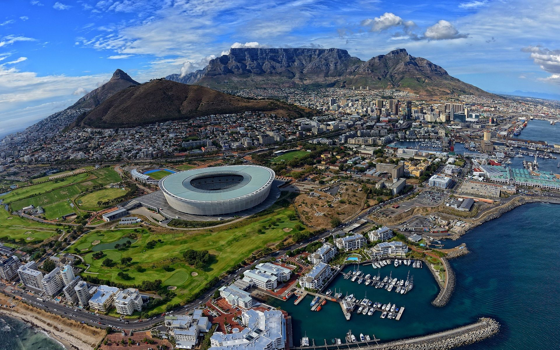 Cape Town Arial View