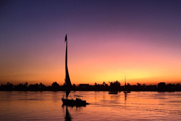 Sunset Sail on the River Nile