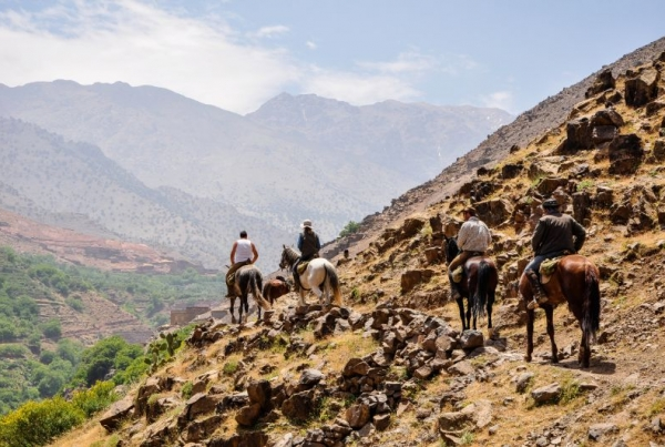 Horse riding in the High Atlas Mountains